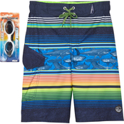 ZeroXposur Boys Frenzy Stripe Swim Shorts