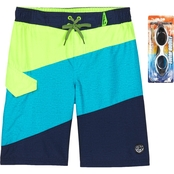 ZeroXposur Boys Color Block Swim Trunks