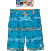 ZeroXposur Boys Aquarium Swim Shorts