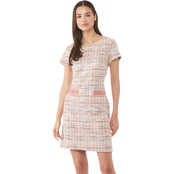 Connected Apparel Tweed Dress