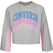 Converse Girls Colorblocked Bell Sleeve Crew Top