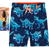 ZeroXposur Little Boys Sketchy Dino Swim Shorts