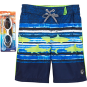 ZeroXposur Little Boys Marine Racing Swim Shorts