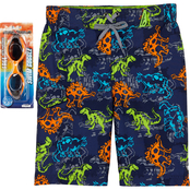 ZeroXposur Little Boys Jurassic Swim Shorts