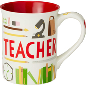 Our Name is Mud Teacher Pattern Coffee Mug