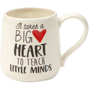 Our Name is Mud Big Heart Teacher Mug