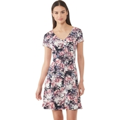 Connected Apparel Floral Fit and Flare Dress