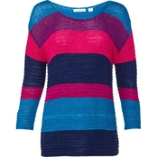 Passports Stripe Tape Yarn Sweater