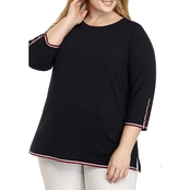 Tommy Hilfiger Plus Size Boatneck Knit Top