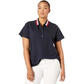 Tommy Hilfiger Plus Size Global Stripe Polo Shirt