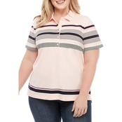 Tommy Hilfiger Plus Size Striped Polo Shirt