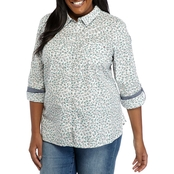 Tommy Hilfiger Plus Size Posey Roll Tab Shirt