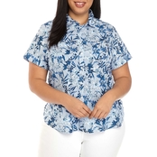 Tommy Hilfiger Plus Size Cornell Daffodil Camp Shirt