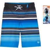 ZeroXposur Boys Tide Stripes Swim Shorts