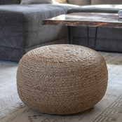 Decor Therapy Round Woven Pouf