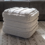 Decor Therapy Winifred Square Pouf