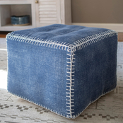 Decor Therapy Daisy Square Pouf
