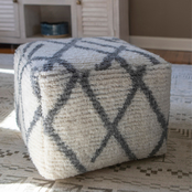 Decor Therapy Nadine Square Pouf