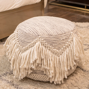 Decor Therapy Fringed Pouf