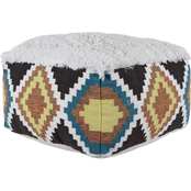 Decor Therapy Shaggy Southwest Square Pouf