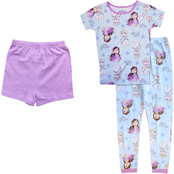 Disney Little Girls Frozen 3 pc. Cotton Pajama Set