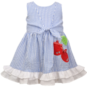 Bonnie Jean Infant Girls Cherry Seersucker Dress
