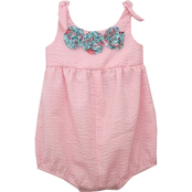 Bonnie Jean Infant Girls Seersucker Bubble Romper