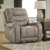 Signature Design by Ashley Yacolt Power Recliner with Adjustable Headrest