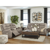 Signature Design by Ashley Yacolt Power Reclining Set with Adjustable Headrests