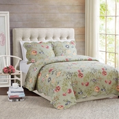 American Traditions Edens Garden Quilt with 2 Shams