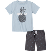 Nautica Infant Boys 2 pc. Pineapple Fish Logo Tee Set