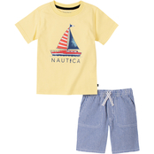 Nautica Toddler Boys 2 pc. Sailboat Tee Set