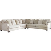 Signature Design by Ashley Rawcliffe 3 pc. Sectional with LAF Sofa and RAF Sofa