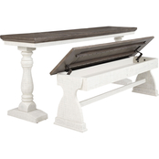 Signature Design by Ashley Braelow Rectangular Table and Bench Set