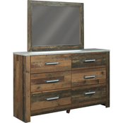 Benchcraft Chadbrook 6 Drawer Dresser and Mirror