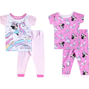 Disney Infant Girls Minnie Mouse 4 pc. Pajama Set