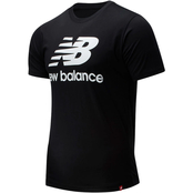 New Balance Essential Stacked Logo Tee Gray