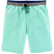 OshKosh BGosh Big Boys Solid Dock Shorts Green 10 Kids