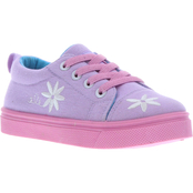 Oomphies Preschool Girls Poppy Canvas Lace Shoes