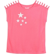 Pony Tails Girls Shoulder Strap Honeysuckle Stars Active Tee