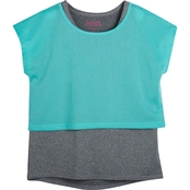 Pony Tails Girls Active Tank with Mesh Overlay