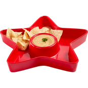 Martha Stewart Collection Americana Melamine Chip & Dip Bowl