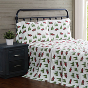 London Fog Vintage Trucks Flannel 4 pc. Sheet Set