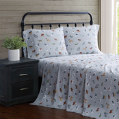 London Fog Winter Dogs Flannel 4 pc. Sheet Set