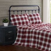 London Fog Cotton Flannel 4 pc. Sheet Set