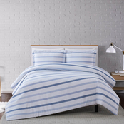 Truly Soft Waffle Stripe Full/Queen 3 pc. Duvet Cover Set