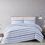 Truly Soft Waffle Stripe Full/Queen 3 pc. Quilt Set