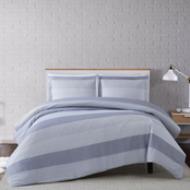 Truly Soft Grey Multi Stripe 3 pc. Duvet Cover Set