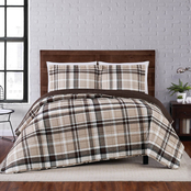 Truly Soft Paulette Plaid Taupe Full/Queen 3 pc. Quilt Set