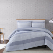 Truly Soft Grey Multi Stripe 3 pc. Comforter Set